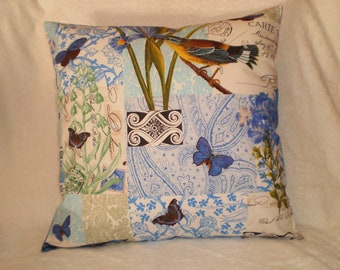 French Provincial print cushion cover generous 45cmX45cm quilting quality cotton hand made