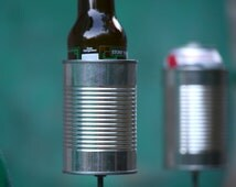 2 Hobo Tin Can Beer Holders/ Garden Drink Holders- No Nameplates