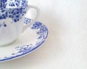 "Shelley ""Dainty Blue"" Fine Bone China Tea Cup and Saucer - Circa 1945 - 1966"