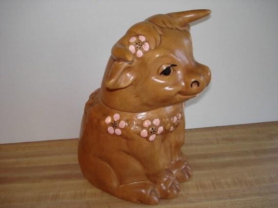 Vintage Twin Winton Cookie Jar Ceramic Cow Storybook