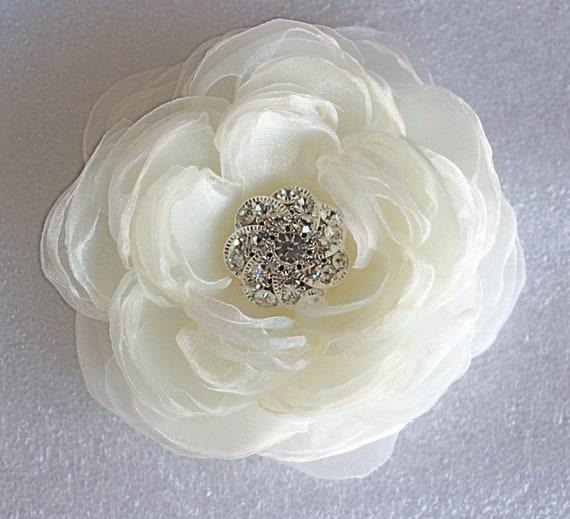 Ivory Flower Hair Clip Wedding: Ivory Wedding Hair Flower/bridal Hair Flower By StacieRowie