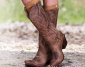 Peekaboo Lace for Your Boots Calf Socks Boot Cuff Boot Lace