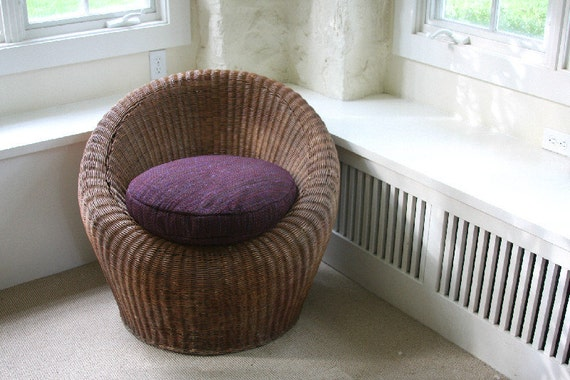 Vintage Mid Century Modern Wicker Lounge Chairs - Rattan, Patio, Outdoor