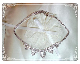 Sparkling Rhinestone Prom Necklace - Ice Crystals Neck-1191a-012312000