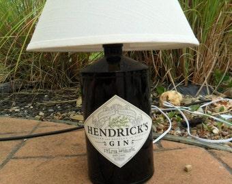 Recycled Liquor Bottle Lamp - Hendricks Gin