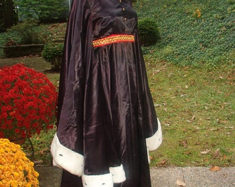 Evil Queen Costume Gown Medieval Witch Dress  Storybook Fantasy Goth Small/ Medium