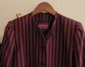 Womens Jackets Navy Blue and Red Stripes Jacket Vidal Sasson Blazer