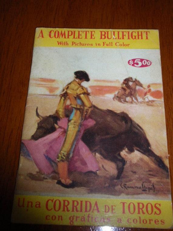 Bullfight Matador Book From Mexico 1950s Mexico City PLAZA MEXICO
