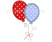 Birthday Balloon Two 2 Number Applique Machine Embroidery Design second 2nd INSTANT DOWNLOAD