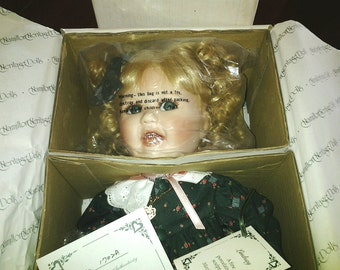 Beautiful Lindsay,porcelain bisque jointed Heritage Collection doll, Mint Condition