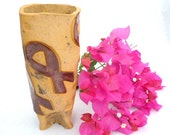 Ceramic Breast Cancer Awareness Planter, I Hate Cancer, Limited Edition