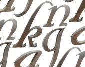Vintage Cursive Letters -- Stainless Steel