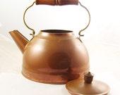 Vintage Antique Revereware Copper Kettle Tea Pot