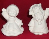 Set of Santa and Mrs Claus Figurines (You Paint)