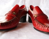 Vintage Red Leather Loafers Viner Vintage Great condition