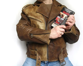 Leather mens jacket Replica Wesley Snipes from movie Passenger 57 biker NEW XL