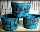 """Turquoise Barrel Basket Infant/Baby Photography Prop-35.5"""" around x 8"""" tall"""