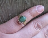 Gold and Jade Ring
