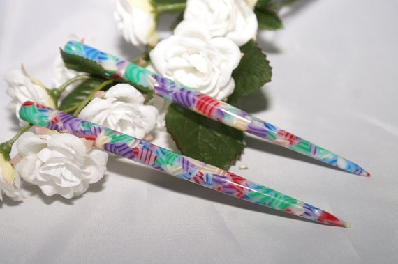 Hair Sticks with red, white, blue and more colors .42.