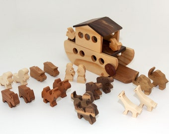 Eco - Friendly Wooden Noah's Ark