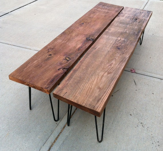 Items Similar To Rustic Modern Wood Bench On Etsy