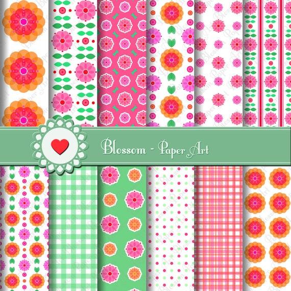 Papeles digitales para imprimir flores manualidades - Papeles para decorar ...