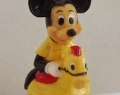 Vintage Mickey Mouse Riding Horse Wobbly Toy - Gabriel Toys
