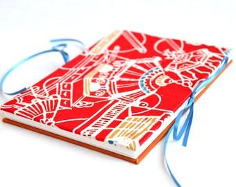 5x7 Photo Album, Scrapbook Album, Wedding Guestbook, Upcycled Kimono Book, Accordion Album