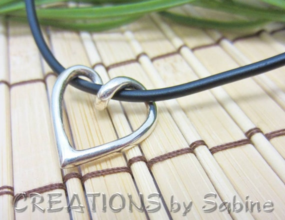 Simple Silver Heart Pendant, Sterling, Vintage REDUCED PRICE