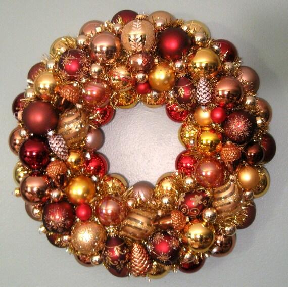 Bronze christmas wreath woodland by judyblank on etsy