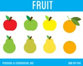 Fruit Clipart - Digital Clipart for Personal & Commercial Use