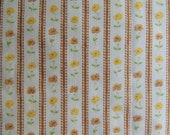 Vintage Striped with Flowers Fat Quarter