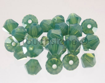 4mm Palace Green Opal Swarovski Crystal Bicone Beads 72 Beads #45-1127