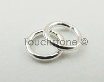 6mm Silver Filled Jump Rings