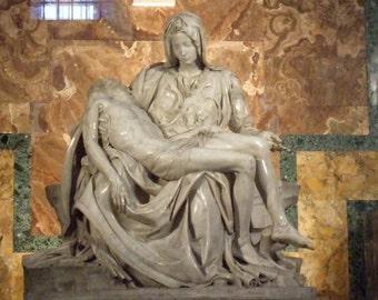 Set of 5 Blank Photo Note Cards - Michelangelo's Pieta