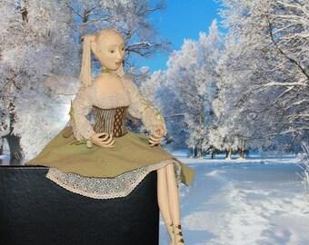 Fairy. Papier mache OOAK doll.