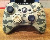 Xbox digital camo controller 9mm bullet button 12 guage shotgun shell dpad  Flat Dark Earth FDE Army Green black ops call of duty