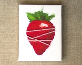 Strawberry  -  Sewn Tiny Canvas Print  4x3 inches