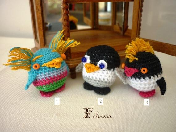 Amigurumi Penguin Cell Phone Strap : Items similar to Amigurumi Penguin Happy Feet,Donut, Nemo ...