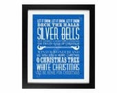Christmas Songs Subway Art | Holiday Home Decor Digital Printable - INSTANT DOWNLOAD