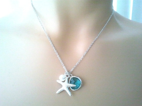 Starfish Necklace, starfish Pendant Necklace, Strand Necklace,statement Necklace, Bib, Personalized,Choker Necklace