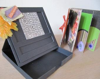 Halloween picture frame with premade mini scrapbook album