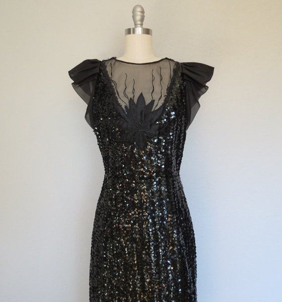 80s party dress size small / Lotus Flower