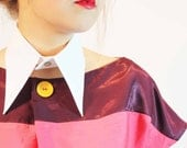 White collar, cotton, Karl Lagerfeld style