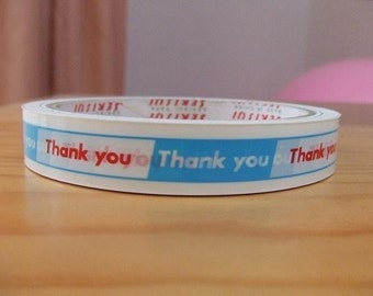 Blue, White Red Japanese THANK YOU Tape