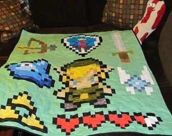 Legend of Zelda Lap Quilt / Big Baby /toddler quilt