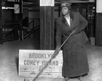 Photo of Black African American Woman - Subway Porter