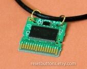 Nintendo DS Circuit Board Necklace