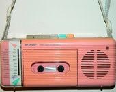 Portable Pastel SHARP Radio Cassette Recorder