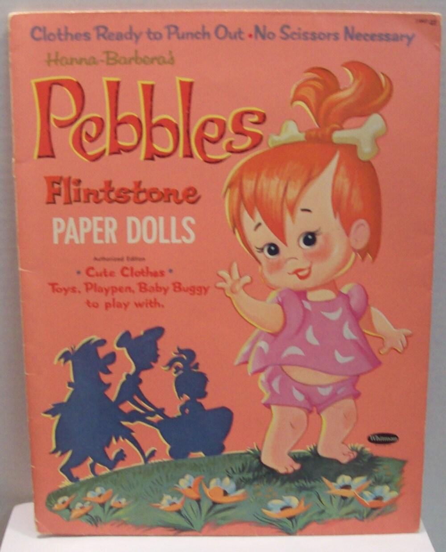 Vintage Pebbles Flintstone paper doll 1963 Hanna-Barbera